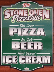 Stone Oven Pizzeria: 1/2 of food and drink