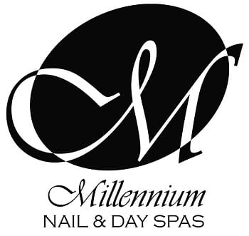 Millennium Nail & Day Spa - Ombre Pink and White Full Set Artificial Nails