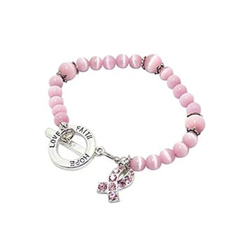 Pink Pearl Cancer Bracelets - $15.75 with FREE Shipping!