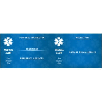 Medical Alert ID Card - Free Shipping