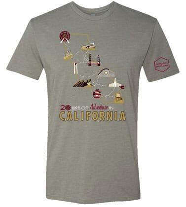 20 Years of California Gray T-Shirt