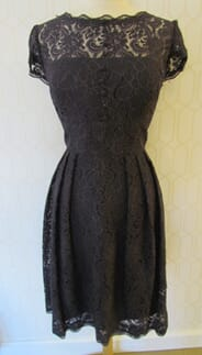 Monicas - 5a - Charcoal Gray All Lace Dress by Watters