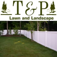 T & P Lawn and Landscape - White Vinyl Privacy Fence