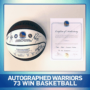 West Bay Pilipino Multi-Service Center - Autographed Warriors 73 win basketball