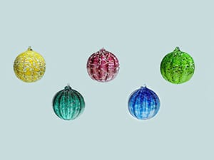 Firenation Glass Studio and Gallery - Hand Blown Glass Bulbs - Group of 5