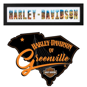 Harley Davidson of Greenville - Collage Photo Frame valued at $60