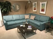 Whitco Home Furnishings - Decorest-Contemporary Teal Green Sectional