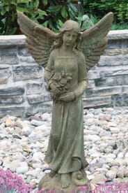 "Altieres Home and Garden - 42"" ANGEL W/ ROSES"