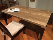 Spector Furniture and Mattress Gallery - Solid Travertine Desk/Dining Table