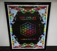 Coldplay - Autographed Poster