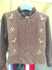 Alpaca Country Clothing and Gifts - Womens Alpaca Embroidered Zip Jacket small
