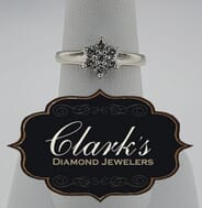 Clarks Diamond Jewelers - 14kt White Gold and Diamond Cluster Ring