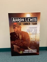 Aaron Lewis - Autographed Gig Poster