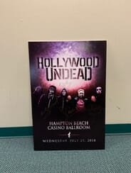 Hollywood Undead - Autographed Gig Poster