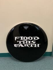 Flood This Earth - Autographed Drum Head