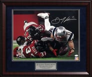 "New England Patriots - Edelman Autographed ""The Greatest Catch"" Photo"
