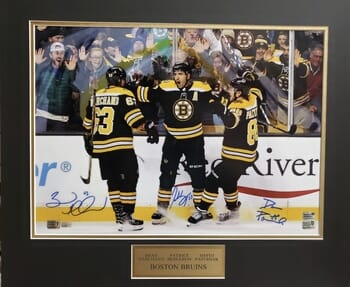 Boston Bruins - Bergeron/Marchand/Pastrnak Signed Photo