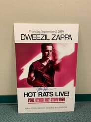Dweezil Zappa  - Autographed Gig Poster