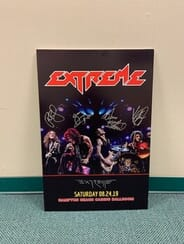 Extreme - Autographed Drumhead and Gig Poster