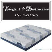 Elegant and Distinctive Interiors - Serta iComfort Blue 100CT Gentle Firm Queen Mattress Set valued at $1,499