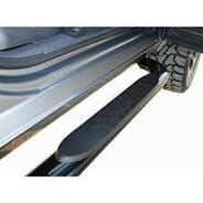 Rowells Truck Accessories  - Black 4in oval Nerf Bars