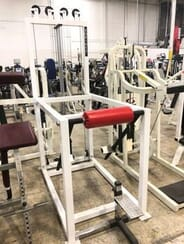 Show Me Weights - Sorinex Ground Gainer - White Frame Red Upholstery