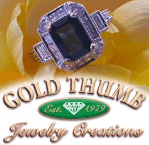 Gold Thumb Jewelry Creations - Emerald Cut Sapphire Ring