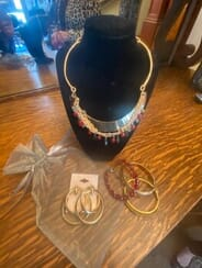 Ambridge Rose Spa  Salon, Inc. - BLACK RED BEADED/GOLD STACKED NAECKLACE NECKLACE SET