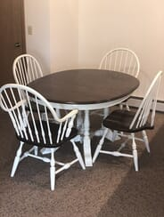 CT Refinishing, LLC - Dining Room Table with 4 Chairs Refinishing